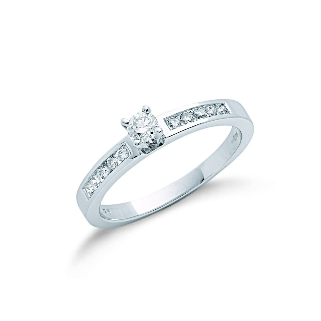 9ct white gold engagement ring mitchells jewellers